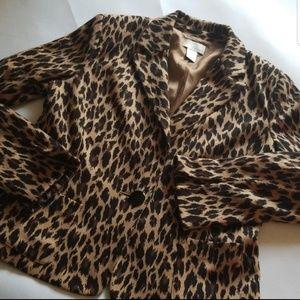 Spiegel Vintage Leopard Print Blazer 16